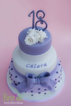 purple 18 years old cake for girl