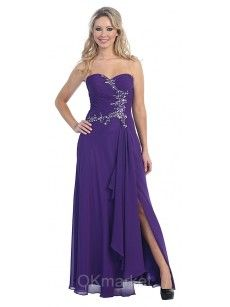purple strapless prom dress.do you like that?