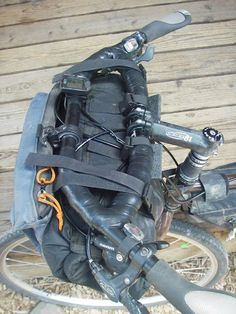 I bought a frame bag for my new Pugsley and thought about going with bags for the rest of the set up instead of tinkering with racks to put my Touring Bicycles, Touring Bike, Bicycle Bag, Bicycle Parts, Bike Trails, Biking, Bike Panniers, Bike Packing, Build A Bike