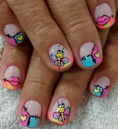 Cute Nail Art, Cute Nails, Leo, Nail Designs, Sour Cream, Polish Nails, Simple Toe Nails, Pretty Nails, Colorful Nails