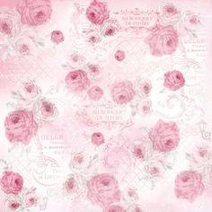 La Vie en Rose Pink Decoupage Rice Napkin
