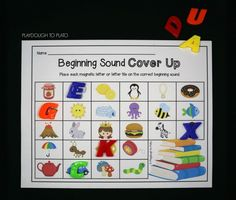 Place a magnetic letter on each beginning sound.
