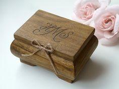 Ring Bearer Box Wedding Ring Box Ring Holder Wooden
