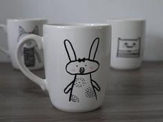 Bunny Mug Mug with Rabbit Tea / coffee mug.
