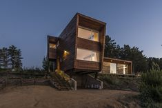 Completed in 2016 in Pichilemu, Chile. Images by Felipe Cantillana. A young couple asked us to built them a beach house, having in mind they wanted to start spending more time on the beach, rather than the city, with...