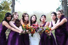 adorable bride and bridesmaid picture