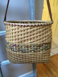 Laptop Tote handwoven basket tote/purse by HookandWeaveDesigns