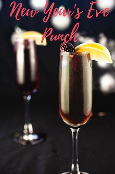 Ring in your New Year with a punch! This perfect punch blends fruits and bubbly to give you something special for this special night