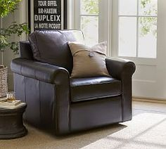 Leather Chairs, Leather Armchairs & Leather Club Chairs | Pottery Barn