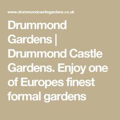Drummond Gardens | Drummond Castle Gardens. Enjoy one of Europes finest formal gardens