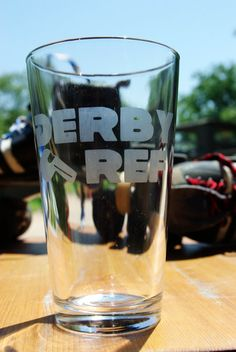 Derby Ref Pint Glass by derbylittlehabit on Etsy, $10.00