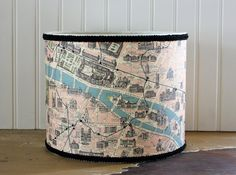 Streets of Paris Drum Lampshade by Sassyshades on Etsy, $50.00