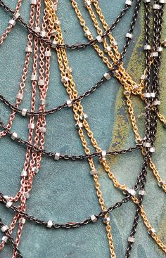 Our bestselling Cascade necklace in rose, yellow or gunmetal sterling silver is a summer stunner!   http://www.lauratannerjewelry.com/shop/signature-collections/cascade-necklace/prod_381.html