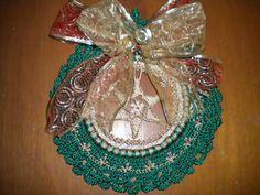 corona navideña a crochet