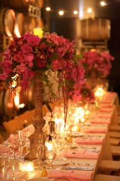 beautiful colors and lighting for wedding reception