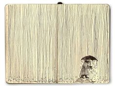 Mattias Mackler thinks it's fun to think of something fun. He's right!  Enjoy this sketch~ Moleskine Lines Series: Rain.