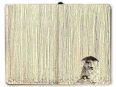 Mattias Mackler thinks it's fun to think of something fun. He's right!  Enjoy this sketch~ Moleskine Lines Series: Rain.
