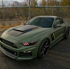 Olive Drab - Ford Mustang
