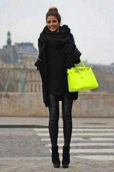 black + a pop of neon