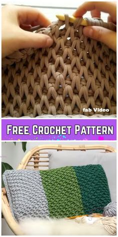 Tunisian Crochet Smock Stitch Free Crochet Pattern – Video - Before After DIY Knitting Needle Sets, Circular Knitting Needles, Knitting Stitches, Crochet Pillow, Crochet Hooks, Free Crochet, Crochet Case, Tunisian Crochet Patterns, Tunisian Crochet Blanket
