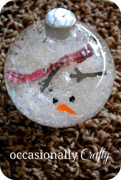 melted snowman ornament +25 Beautiful Handmade Ornaments - NoBiggie.net