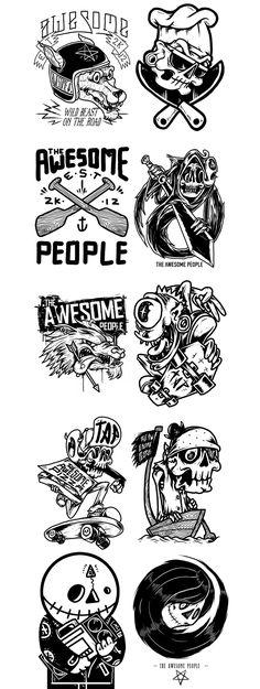 t-shirt illustration vol.3 on Behance