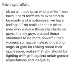 Gender inequality. Men need to get a little more #HeForShe. Christian Feminism.