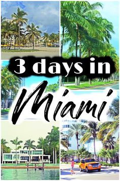 You can easily find many interesting things to do and see in Miami; with a little organization, you can enjoy your 3 days in Miami. Usa Travel Guide, Travel Usa, Travel Guides, Usa Roadtrip, Travel Tips, Cool Places To Visit, Places To Travel, Florida Travel, Miami Florida Vacation
