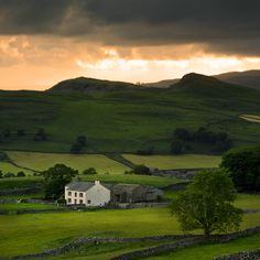 Lower Winskill Farm, Yorkshire Dales, England by Barry (Baz) Pearson