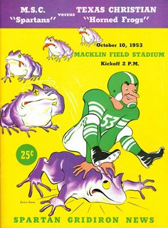Oct 10, 1953 was the last time @MSU_Football & @TCUFootball met. It was also the day this beauty hit the market