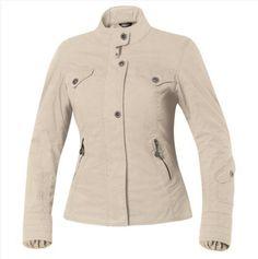 Chaqueta rutera de mujer (Held Emilia) estilo urbano. Colores: negro, azul o beige. Material: Algodón encerado (75% algodón, 25% nylon). Tallas: hasta 3XL.