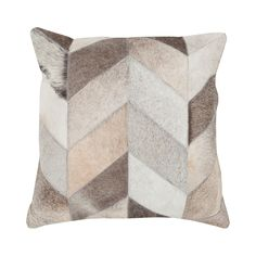 Add rustic appeal to your living room sofa or favorite reading nook with this handmade pillow, crafted of cowhide and featuring a chevron motif. Inexpensive Furniture, Cool Furniture, Accent Furniture, Kitchen Furniture, Furniture Ideas, Handmade Pillows, Decorative Pillows, Decorative Accents, Decorative Accessories