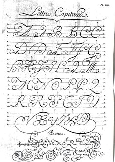 Calligraphy plate XIII (The Encyclopedia, Alembert & Rousseau) . - Calligraphy plate XIII (The Encyclopedia, Alembert & Rousseau) - Tattoo App, Diy Tattoo, Tattoo Fonts, Tattoo Ideas, Creative Lettering, Lettering Styles, Brush Lettering, Copperplate Calligraphy, How To Write Calligraphy
