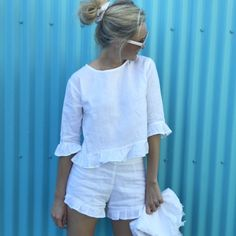 Fred Top – Harry and Kit Best Casual Outfits, Casual Dresses, Summer Outfits, Breastfeeding Dress, Frill Tops, Diy Clothes, Spring Summer Fashion, Passion For Fashion, Lounge Wear