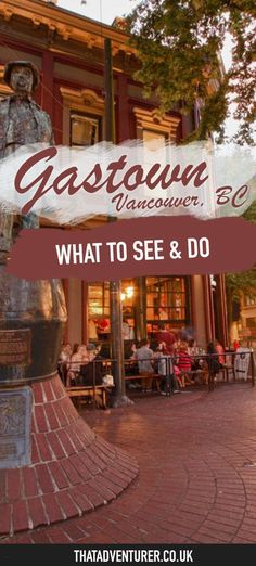 Heading to Vancouver, BC? Make sure you visit Gastown and take a … – North America travel - Travel Destinations Vancouver Island, Vancouver Seattle, Visit Vancouver, Vancouver Travel, Vancouver Gastown, Vancouver Vacation, Vancouver Food, Hotels In Vancouver Bc, Vancouver Things To Do