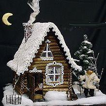 Домик, зима, новый год, рождество