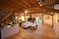 specializing in elegant and artistic barns using a modified post and beam structure and timber frame Barn Builders, Beam Structure, Post And Beam, Modern Barn, Massachusetts, Barns, Commercial, Interiors, Elegant