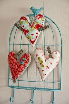I love Valentine's Day and have been busy working on these sweet little fabric valentines. The PDF pattern is available for free on Patternspot.com so you can make some too. I used Therm O Web's Su...