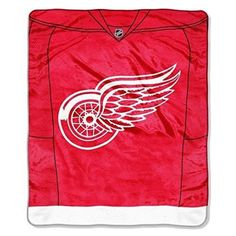 White Red NHL Red Wings Jersey Throw Blanket Plush Soft Warm Colorful Sports Themed Ice Hockey Jersey Pattern Bedding Fan Merchandise Favorite Team