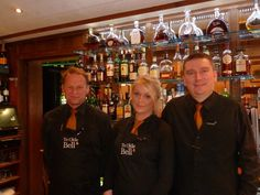 Paul, Kerry & Michael in the St Leger Bar at Ye Olde Bell Hotel & Restaurant