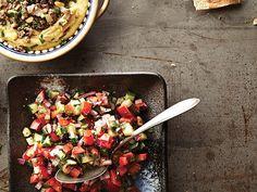 Salade de Tomates, Concombre et Persil Olives, Pasta Salad, Cobb Salad, Grand Bol, Kung Pao Chicken, Bruschetta, Salsa, Healthy, Ethnic Recipes