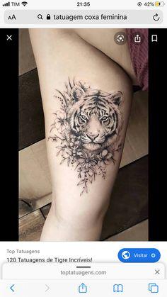 Baby Tiger Tattoos Designs on Media Democracy Tribal Tiger Tattoo, Tiger Tattoo Thigh, Big Cat Tattoo, Baby Tattoos, Couple Tattoos, Body Art Tattoos, Sleeve Tattoos, Tiger Tattoodesign, Tattoos For Women