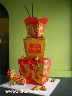 Amazing Chinese new year cake!  ----------- #china #chinese #chinesenewyear