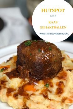 Dutch Recipes, Wing Recipes, Lunch Menu, Easy Cooking, Mashed Potatoes, Food And Drink, Yummy Food, Beef, Dinner