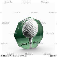 Shop Golf Ball on Tee Award created by JFJPhoto. Showcase Design, Golf Ball, Printing Process, Awards, Vibrant, Tees, Color, T Shirts, Colour