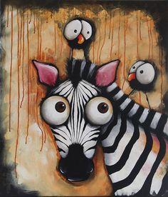 Sunset Zebra - Original Painitng