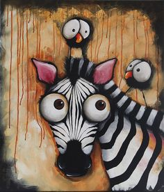 Sunset Zebra - Original Painitng