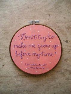 Girls Nursery Decor Embroidery Hoop Art for Her Literature Book Quote in Babys Room Hand Embroidered Wall Art Baby Shower Gift for Baby Girl