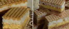 Tradiční oříškově kokosový řez v oplatce Eastern European Recipes, Desert Recipes, Christmas Baking, Sweet Recipes, Waffles, Muffins, Deserts, Food And Drink, Pie
