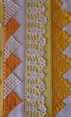 Diy Crafts - -Crochet scarf lace ganchillo Ideas for 2019 crochet Crochet Boarders, Crochet Edging Patterns, Crochet Lace Edging, Crochet Motifs, Cotton Crochet, Crochet Trim, Filet Crochet, Easy Crochet, Crochet Stitches